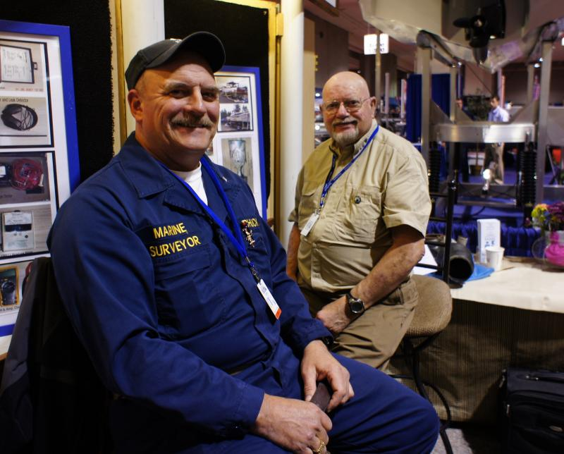 Chuck & Dave at the Seattle Boat Show