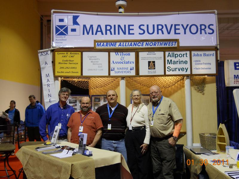 Some of our group at the Seattle Boat Show